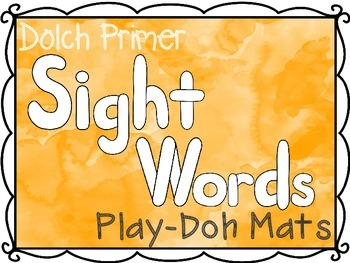 Primer Dolch Sight Words Play-Doh Mats