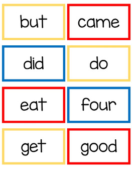 Primer Sight Words- Read, Build, and Write It