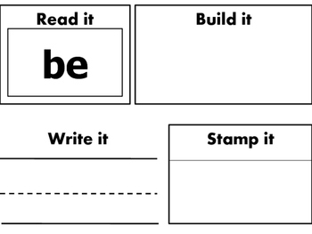 Primer Dolch Sight Words- Read it, Write it, Build it, Stamp it-52 Words