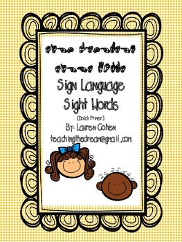 Primer Dolch Sight Words with American Sign Language fingerspelling