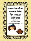 Primer Dolch Sight Words with American Sign Language finge