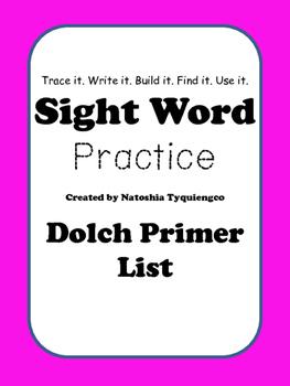 Primer Dolch- Trace It. Write It. Build It. Find It. Use It.
