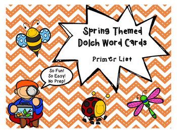 Primer Dolch Word Game - Spring Themed