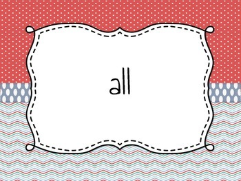 Primer Dolch Word List: Assessment and Flash Cards