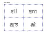 Primer Dolch Word List Flash Cards
