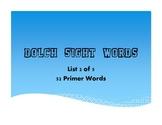 Primer Dolch Word List - .pdf Presentation/Printable - Lis