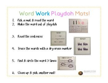 Playdoh Activity Mats: Primer Set!