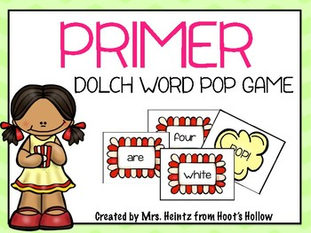 "Primer Dolch Word ""Pop!"" Game"