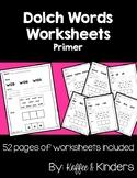 Dolch Sight Word Worksheets - Primer