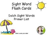 Primer Dolch Words Flash Cards