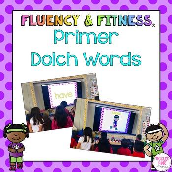 Primer Dolch Words Fluency & Fitness Brain Breaks Bundle
