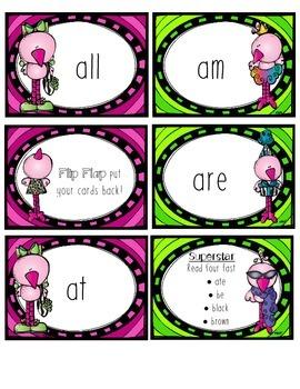 Primer Dolch Words Game: Flamingo Fluency