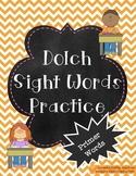 Primer Dolch Words Practice