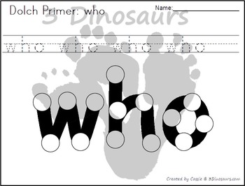 Primer Dot Marker Words