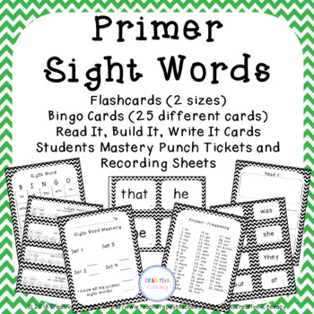 Primer Flash Card and Bingo Set
