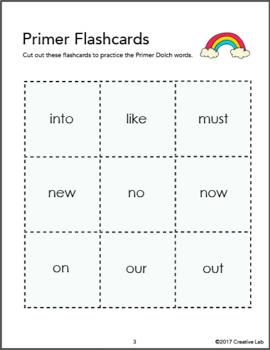 Primer Flash Cards - Dolch Words
