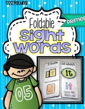 Primer Interactive Foldable Sight Words