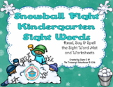 Winter Primer / Kindergarten Sight Word Mat & Worksheets -