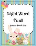 Easter Sight Word Game-Primer List