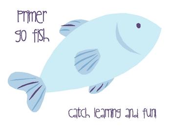 Primer List Go Fish - Literacy Center Game