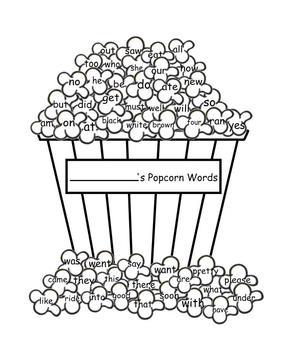 "Primer ""Popcorn Words"""