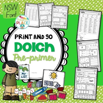 Pre Primer Print and Go NSW Font