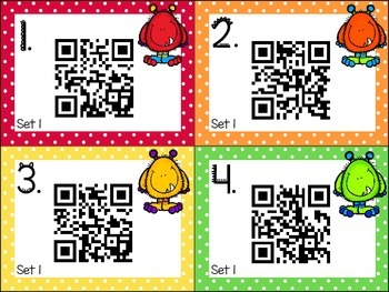 QR Code Literacy Center & Write the Room Activity: Primer Sight Words