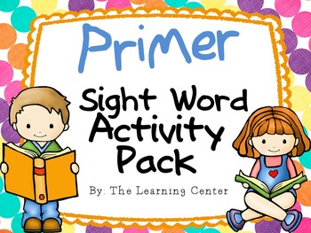 Primer Sight Word Activities