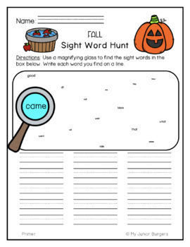 Primer Dolch List Sight Word Activities Year-Long Bundle!