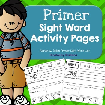 Primer Sight Word Activity Pages (Word Work)