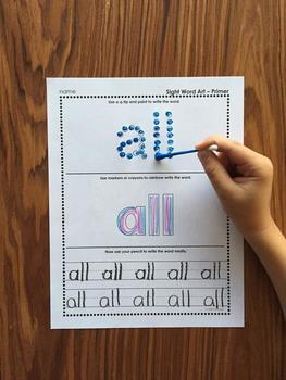 Primer Sight Word Art