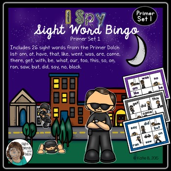 Primer Sight Word Bingo 1