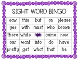 Primer Sight Word Bingo