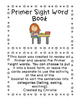 Primer Sight Word Book