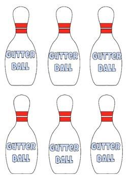 """Primer Sight Word Bowling """"Bang"""" Game"""