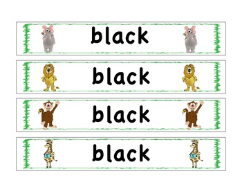 Sight Word Bracelets: Safari: Primer