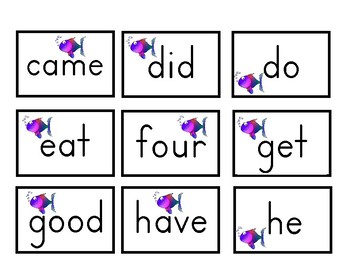 Primer Sight Word Card Game
