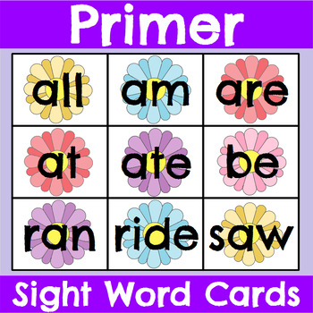 Primer Sight Word Cards Spring