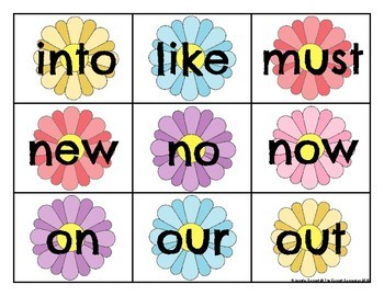 Primer Sight Word Cards Spring