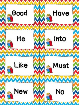Primer Sight Word Cards - Spring Themed