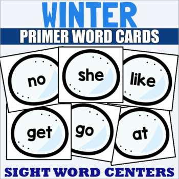 Primer Sight Word Cards Winter