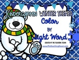 Primer Sight Word Coloring Pages Packet Kindergarten - Winter Themed