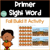 Primer Sight Word Fall Activity