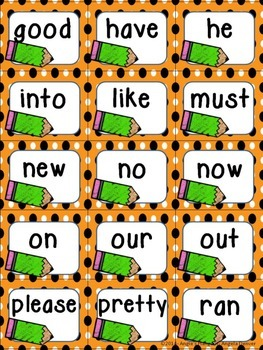 Primer Sight Word Flashcards