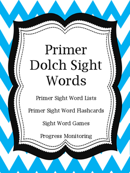 Primer Sight Word Flashcards and Games