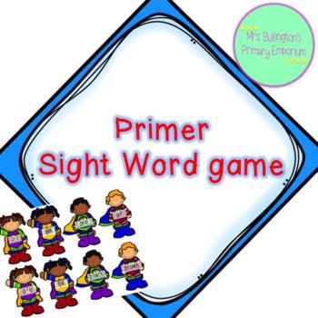 Primer Sight Word Game