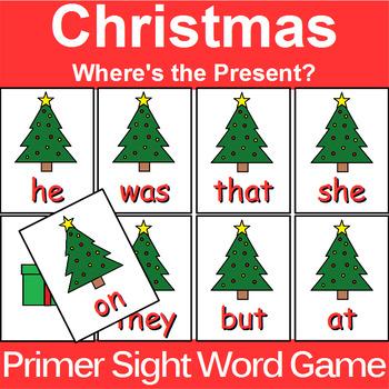 Primer Sight Word Game Christmas Edition