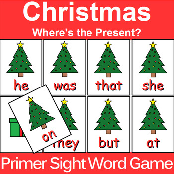 Primer Sight Word Game Christmas Edition