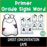 Primer Sight Word Ghost Concentration Game
