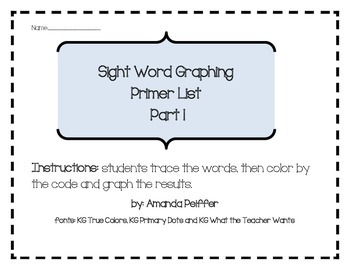 Primer Sight Word Graphing Part 1